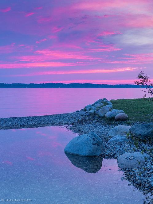 Pink Torch Lake Sunset