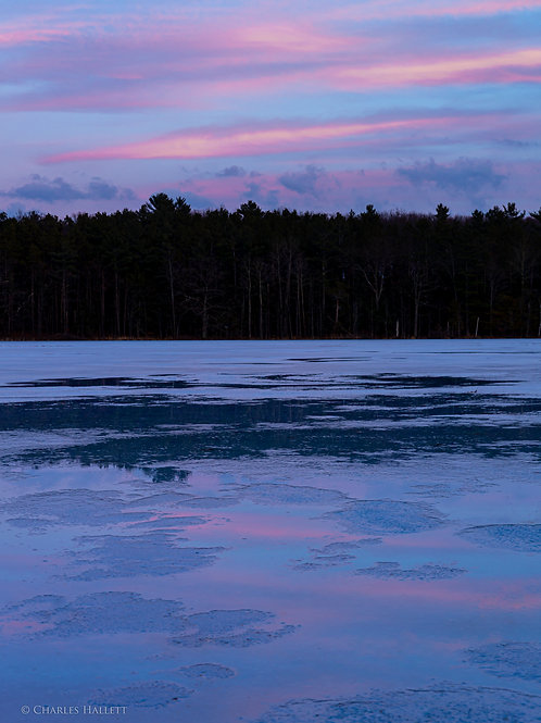 Thayer Pink Ice and Clouds