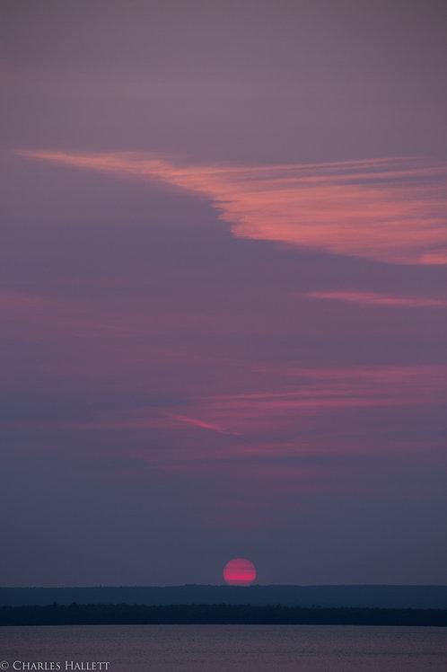 Hazy Superior Sunset