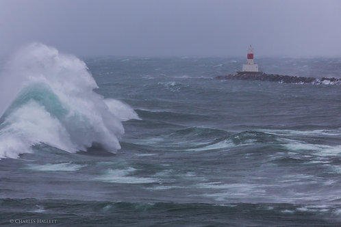 Lighthouse in a Fall Storm