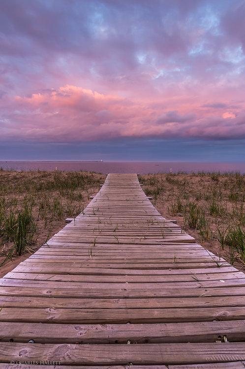 Boardwalk Lighthouse Sunset