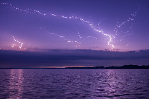 Lightning over Torch Lake
