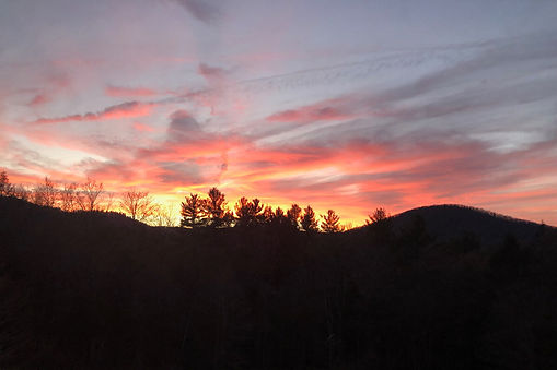 Vermont yoga retreat sunset
