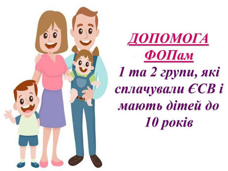 Уряд відновив виплату допомоги на дітей ФОПам