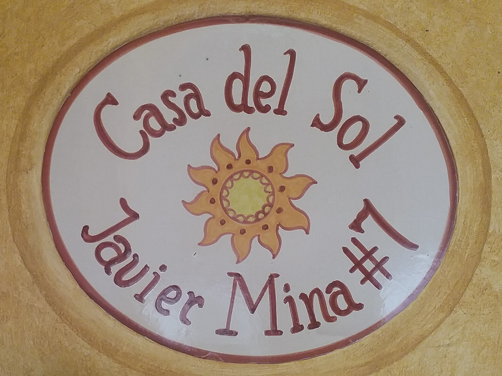 Casa del Sol door plaque
