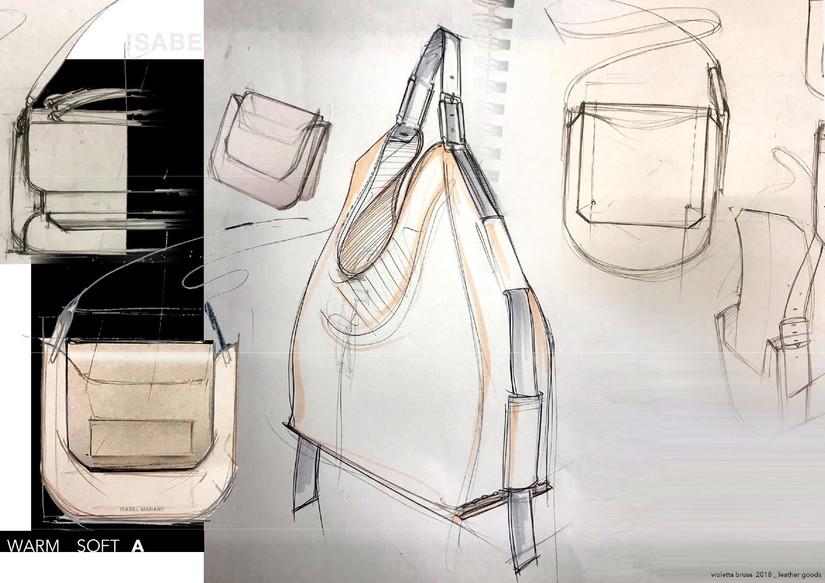 Isabel Marant HANDBAGS sketches _besaces