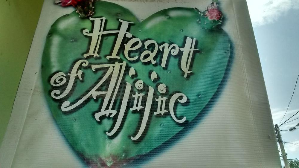 Heart of Ajijic banner in Ajijic Centro, Lake Chapala