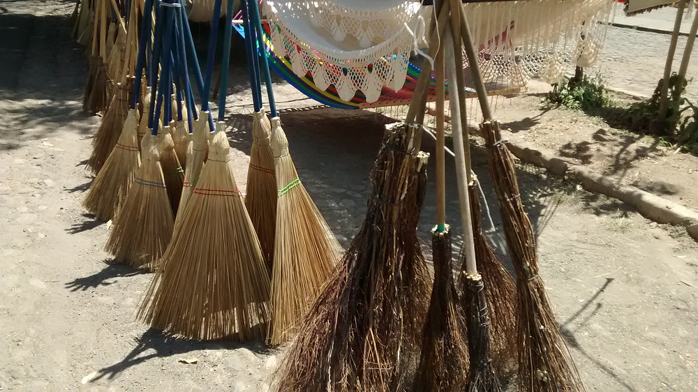 Brooms are made with various natural fibers for different tasks