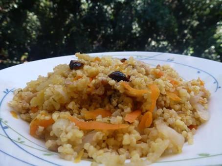 תבשיל קינואה, בורגול וירקות