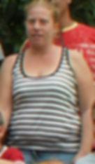 תמונה של לקוחה לפני תהליך של ירידה במשקל