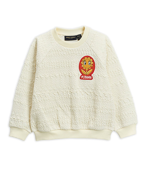 Sweat blanc Mini Rodini