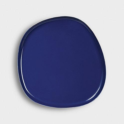 Plateau en métal bleu