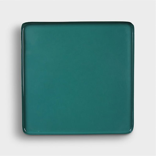 Plateau en métal vert
