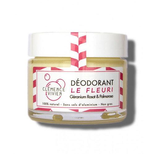 Déodorant crème -Géranium rosat & Palmarosa