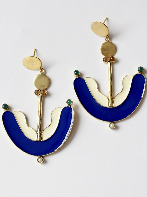 Boucles African smile blue