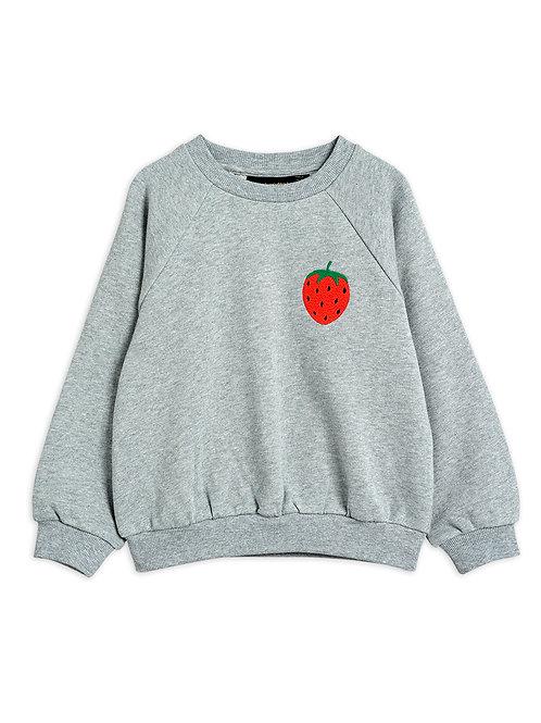 Sweat fraise gris Mini Rodini