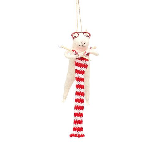 Souris tricoteuse à suspendre
