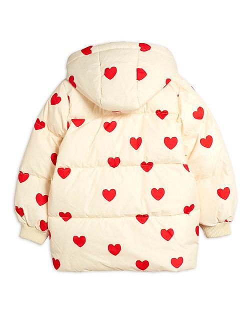 Doudoune Mini Rodini cœurs rouges