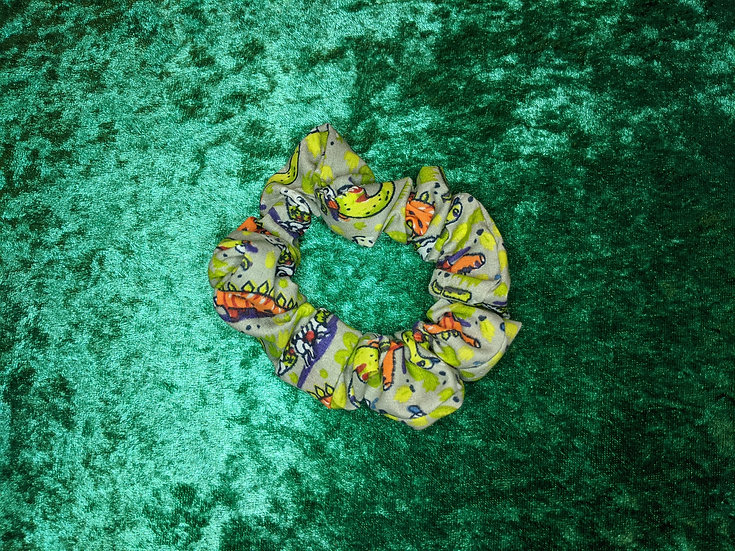 Halloween Party Dinosaurs Scrunchies