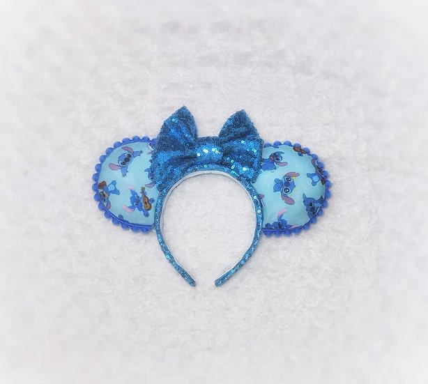 Blue Space Alien Mouse Ears
