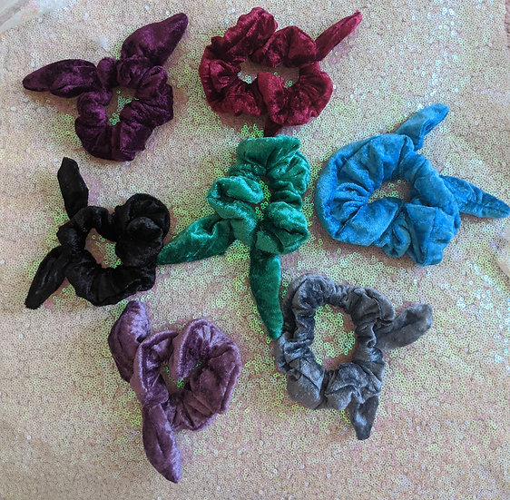 Velvet Knotted Scrunchies