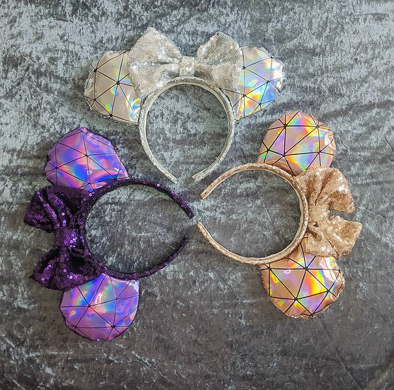 Spaceship Earth inspired Mouse Ears