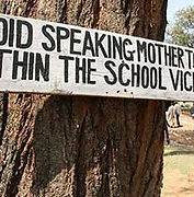 Avoid speaking mother tongue in the scho