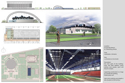 Track and field athletic arena (Student work 2009)