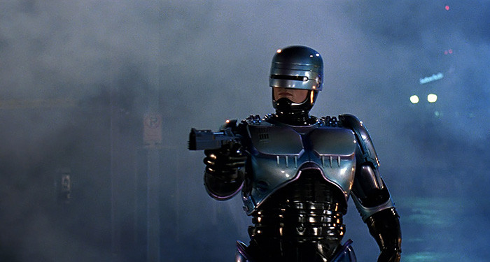 Freeze, punk! I'm Robocop.