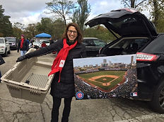 Laura Cullen Roche and Wrigley Field at