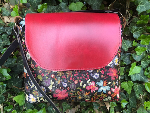 Floral Leather Crossbody