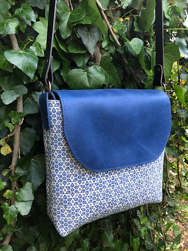 Turkish Tile Leather Crossbody