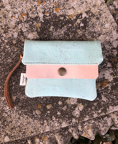 Aqua minimalist wallet