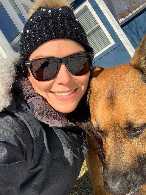 Hailey loves her dog Eddie.
