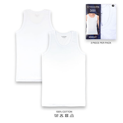 Crocodile 3 Pc Pack Singlet
