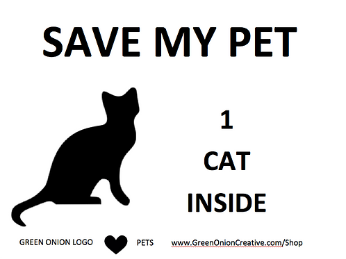 Save My Cat Set of 2 Widow Clings