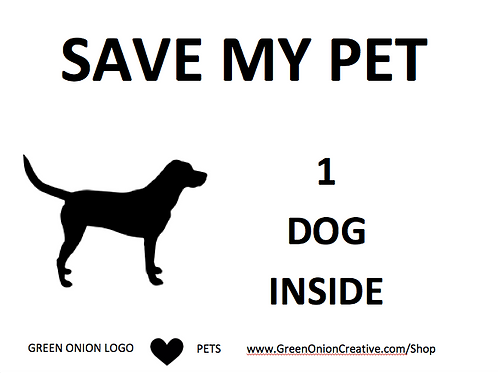 Save My Dog Set of 2 Widow Clings