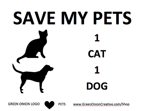 Save My Pets Set of 2 Widow Clings