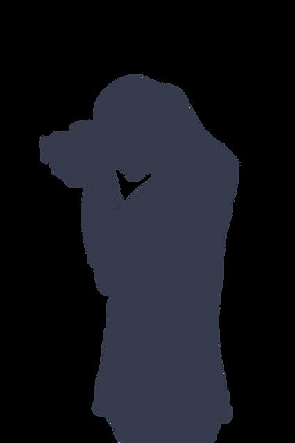 Silhouette - Fille qui prend une photo.p