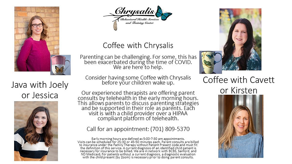 Coffee at Chrysalis 4 providers 5.18.202