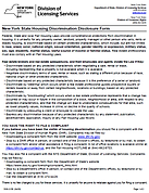 NYS Fairhousing Anti-Discrimination Disclosure Form