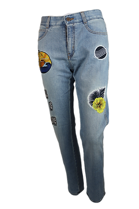Stella MCartney Bluejeans with Padges