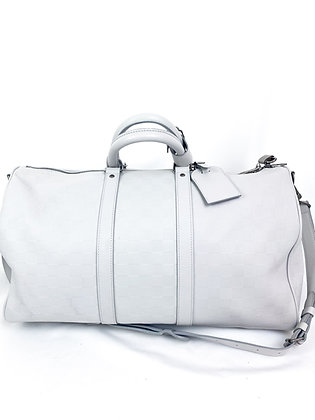 Louis Vuitton KEEPALL LEDER 48 STD/ TASCHE - GRAU