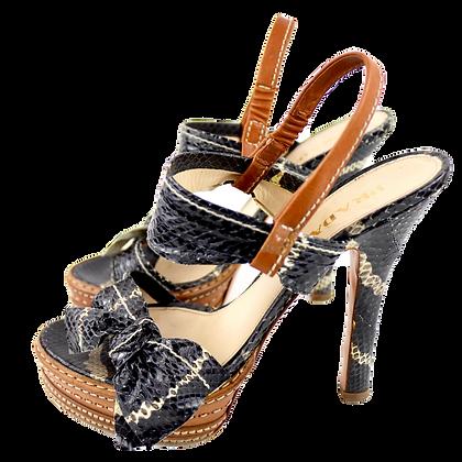 Prada Python Bow High Heels