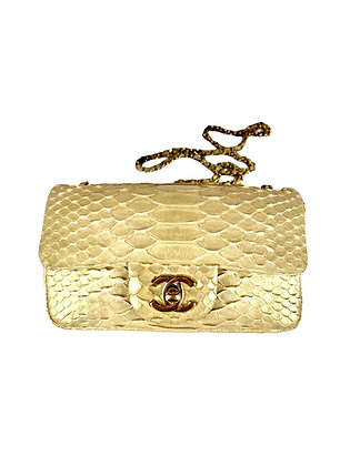Chanel Iridescent Python Mini Flap