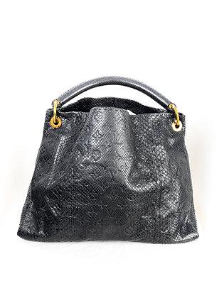 LOUIS VUITTON MONOGRAM PYTHON ARTSY MM GRIS Collector Bag