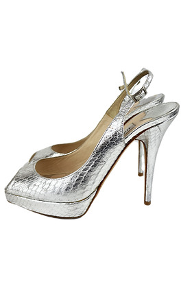 Silver Jimmy Choo High Heels