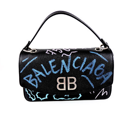 Balenciaga BB Graffiti Crossbody Bag