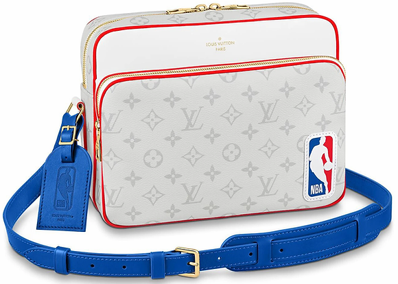 Louis Vuitton x NBA Nil Messenger Antartica in Coated Canvas with Gold-tone