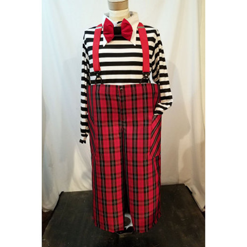 Med. Baggy Pants- Red Black Plaid